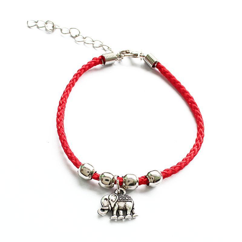 324a933330bf Compre Moda Red String Hilo Pulseras Para Mujeres Niñas Tibetano Plata  Elefante Búho Mariposa Fish Charm Pulsera Joyería A  21.89 Del Watcheshomie