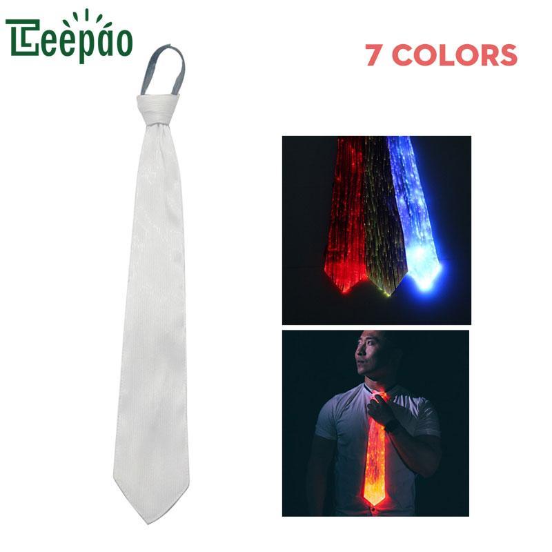Großhandel Neue Design El Wire Tie Flashing Cosplay Led Krawatte ...