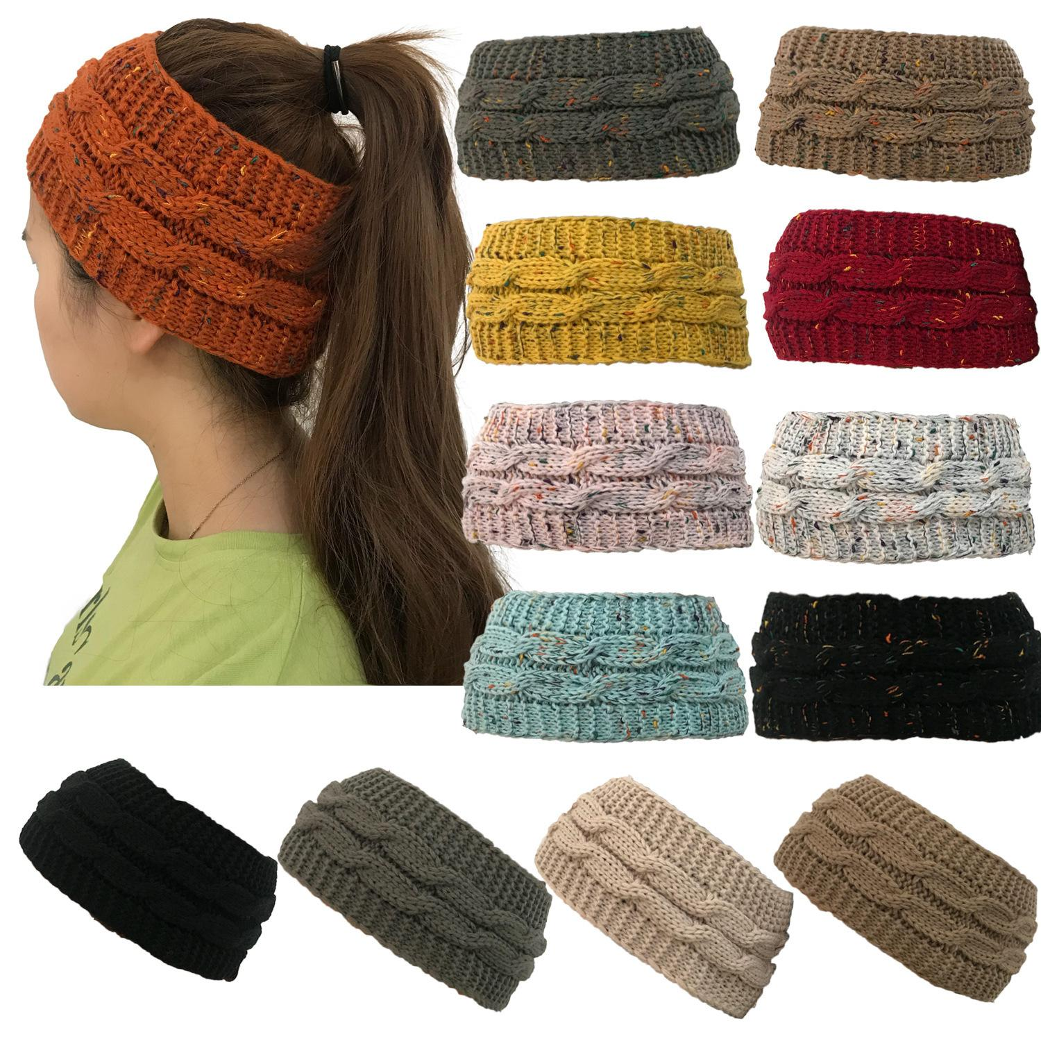 Cc Knitted Hat Headband Women Winter Sports Headwrap Hairband Turban Head  Band Ear Warmer Crochet Open Top Skull Caps Gga998 Black Baseball Cap  Knitted Hats ... 51afce4788c