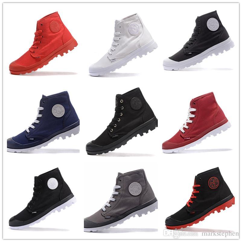 Toile Acheter Hommes New Palladium Chaussures Haut Top Style Femmes wY7YaHqx