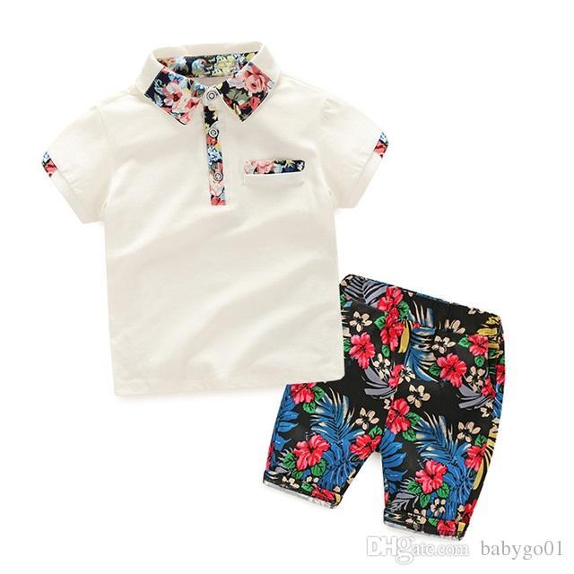 271e9be13 Boy Summer Clothing Set 2018 Boy Clothes Kids Short Sleeves Print ...