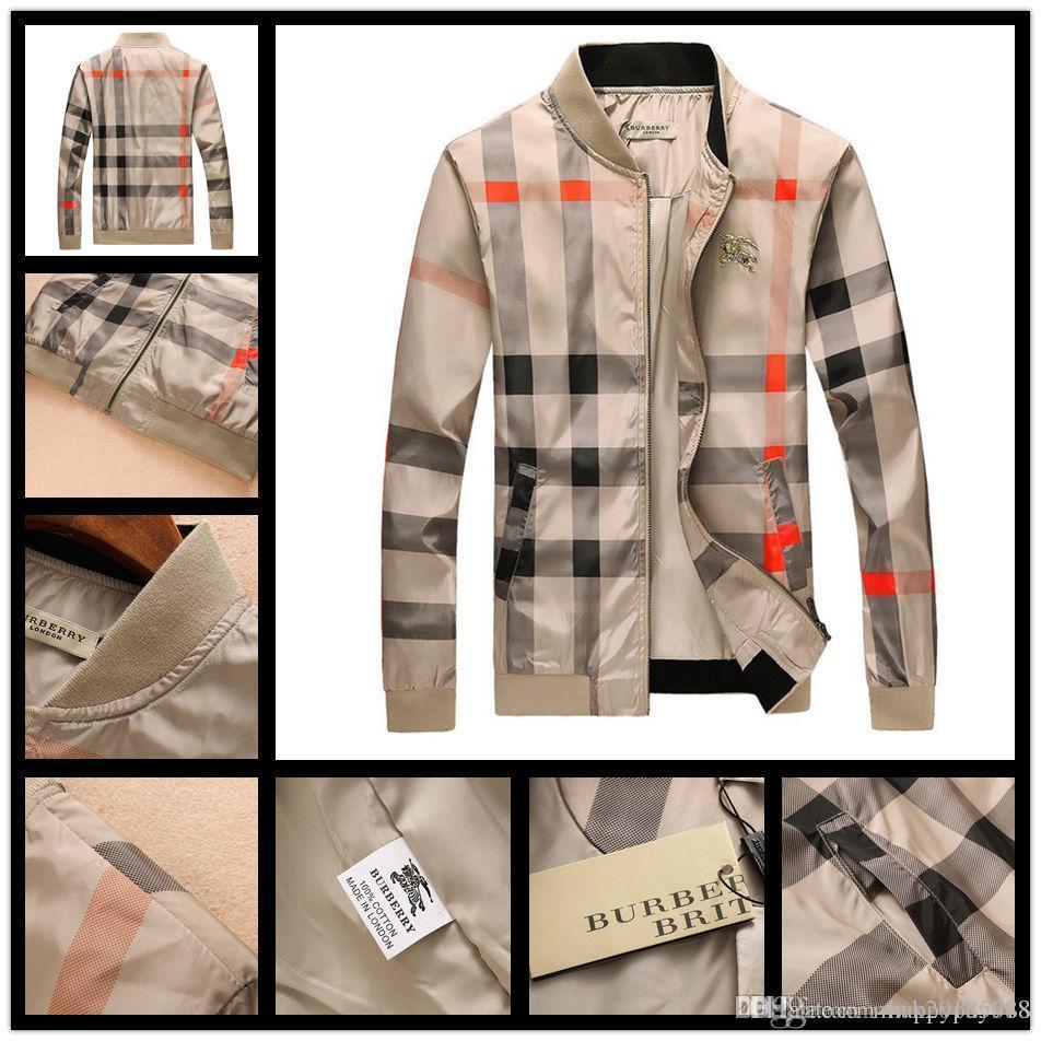 ff9b255de01 2018 Designer Jacket Luxury Windbreaker Long Sleeve Mens Brand Jackets  Hoodie Zipper Animal Letter Pattern Plus Size Clothes M 3XL Jackets For Me  Over Sized ...