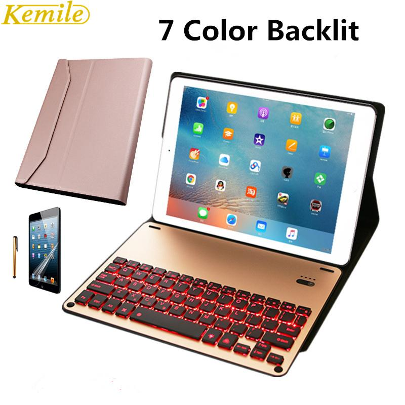 10b04e79cff Kemile Removable Backlit Wireless Bluetooth Luxury Aluminum Alloy Keyboard  For IPad Pro 10.5 Inch Keypad With Case Cover Tablet Case 10 Tablet Case  From ...