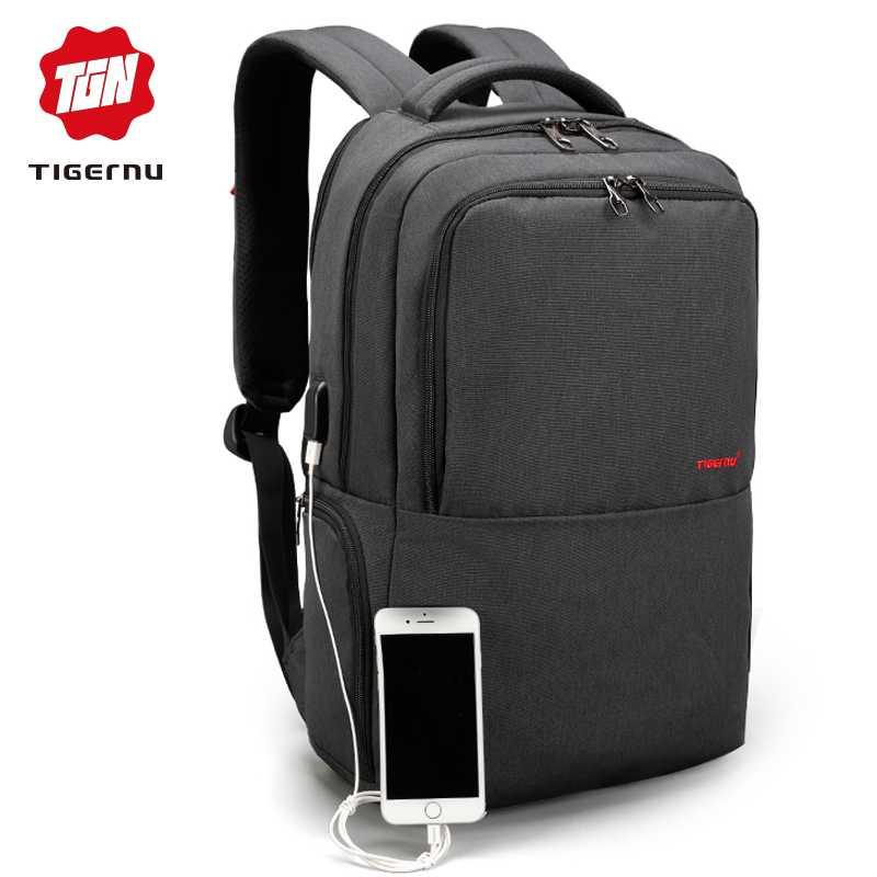 b87cdef7b8 2018 Tigernu Brand 15.6inch Laptop Backpack Waterproof Men Women Backpacks  Slim Unisex School Bags Bagpack For Teens Black Grey Drawstring Backpack  Black ...