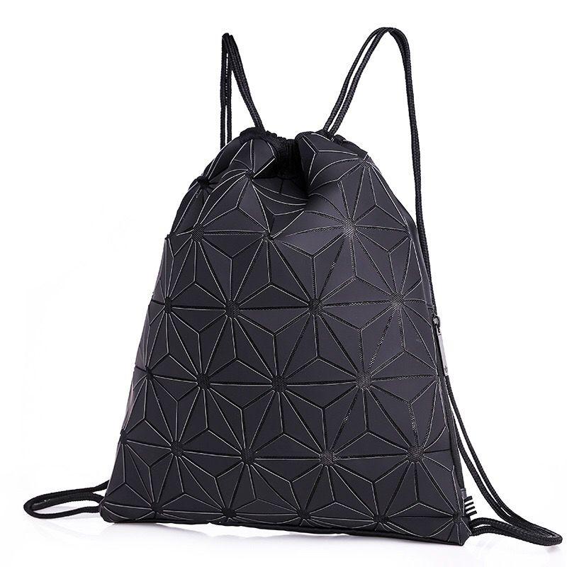 e7c1bf9ac789 3D Geometric Lingge Drawstring Gym Bag Waterproof Sports Yoga Backpack  Sackpack Gymsack For Men Women Universal Teenager Traveling Rucksack