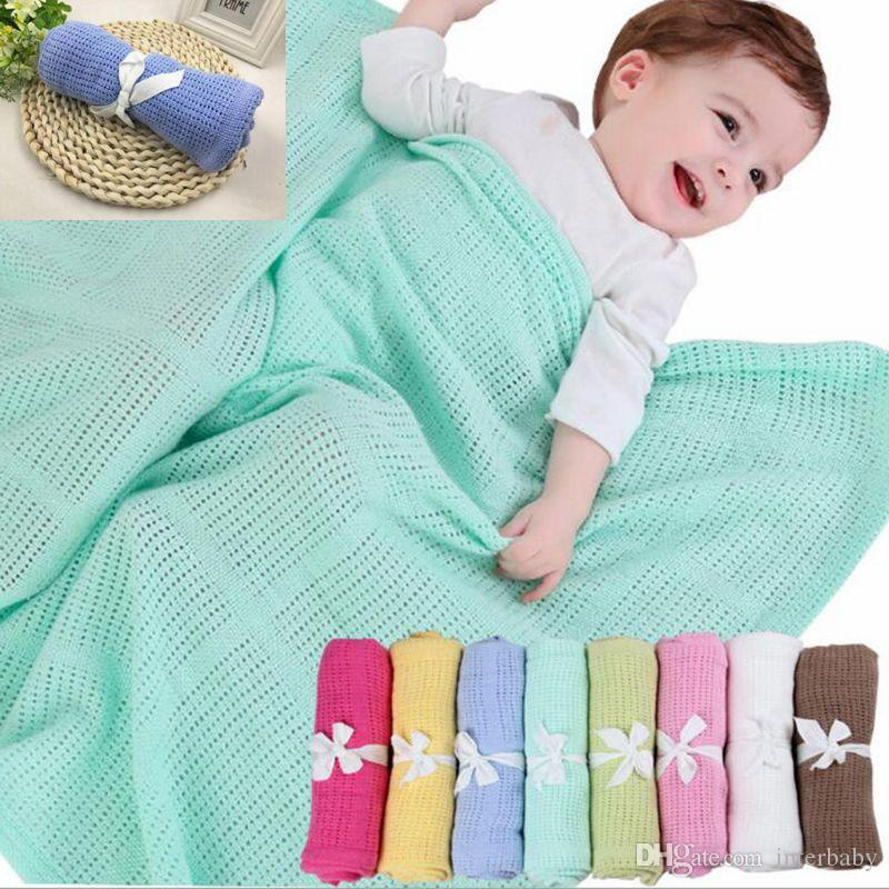 Baby Blankets Knitted Crochet Sleeping Bags Toddler Winter Wraps Newborn Photo Swaddling Nursery Bedding Stroller Cart Swaddle Robes SF236