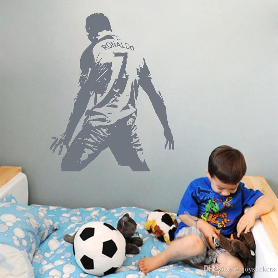 Cristiano Ronaldo Vinyl Wall Sticket Soccer Athlete Ronaldo Wall Decals Art Mural For Kis Room/Living Room Decoration 44*57 cm