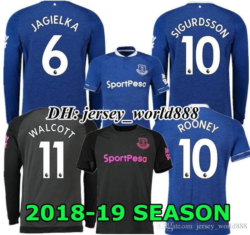 48305e85d 2019 Top Thai Quality 18 19 Everton Home Blue Soccer Jersey ROONEY SANDRO  MIRALLAS BAINES WALCOTT JAGIELKA 2018 2019 Away Football Shirt NIASSE From  ...