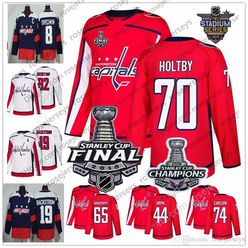 2019 Washington Capitals  74 John Carlson 44 Brooks Orpik 65 Andre  Burakovsky 63 Shane Gersich 2018 Stanley Cup Champions Red White Jerseys S  60 From ... ff7e8bc7bd5