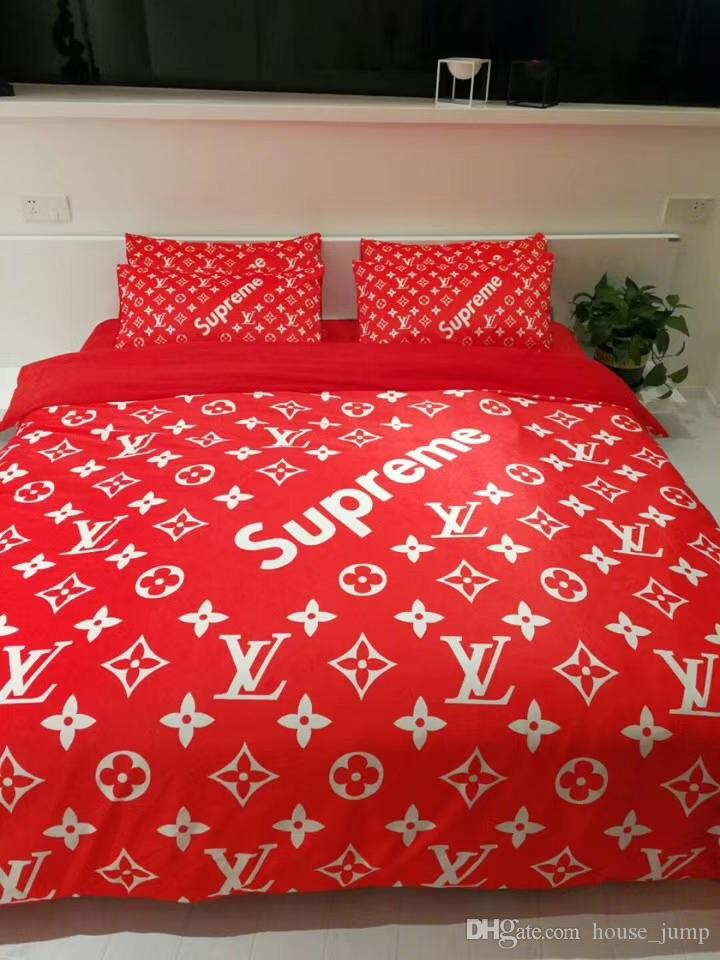 Wedding Fashion S Letter Bedding Suit New Fleece Fabric Series Jubilant Red  Bed Cover Red 4 c03e5fd0e