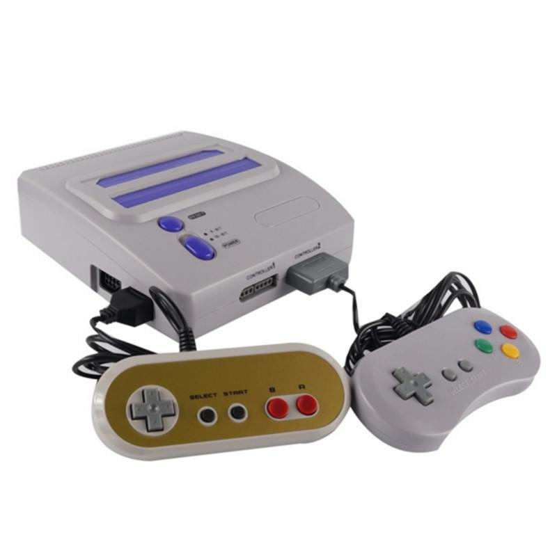 HD Top quality FC+SEGA Genesis/MD compact 16 bit and 8 bit 2 in1 dual system game console support original game card