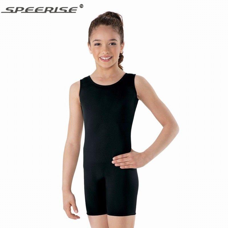 ca074e286 2019 Speerise Children Tank Boy Short Unitard Girls Lycra Spandex ...