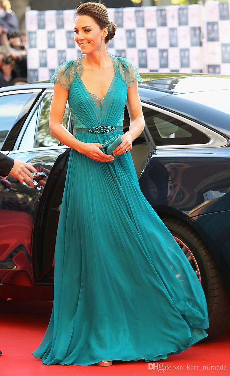 Kate Middleton In Jenny Packham Sheer Lace Chiffon Evening ...