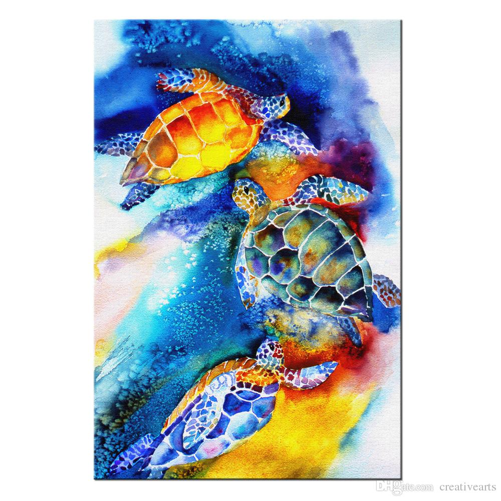 Satın Al Banyo Için Deniz Sanat Deniz Kaplumbağası Boyama Duvar