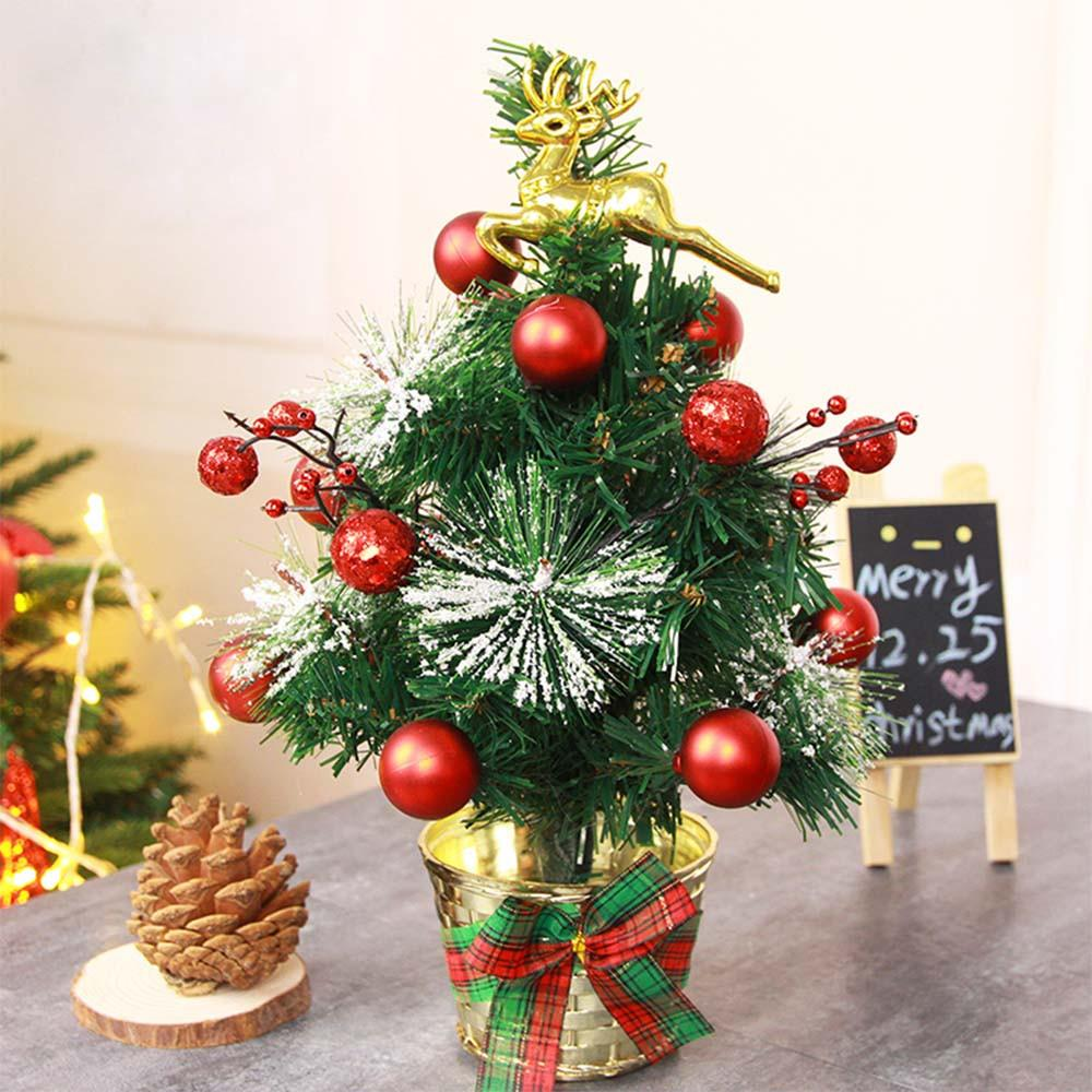 30cm golden elk decorate artificial flocking christmas tree multicolor holiday xmas window christmas decorations for home buy online christmas decorations