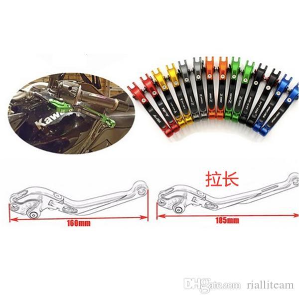 الجملة 7 ألوان قصيرة CNC الفرامل عتلات لKAWASAKI ZX6R / ZX636R / ZX6RR 2000-2004 / ZX10R 2004-2005 / Z1000 2003-2006 / ZZR600 2005-2009
