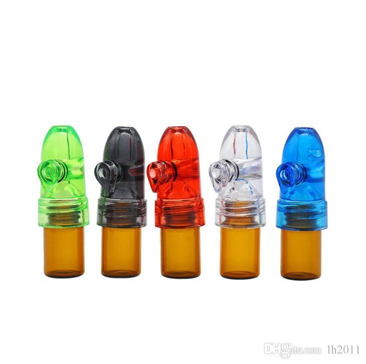 La altura del tubo de plástico de 53 mm de plástico botella de tabaco