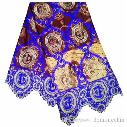 b4ca0132e8 bzt1006 african fabric for patchwork guipure tulle wax lace high quality  real star pattern wax prints fabric 6yard/lot