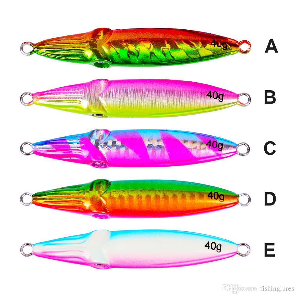 lead lures 40g 60g 80g 100g Saltwater slow jigs Big game fishing baits Fishing Metal fishing Lures tackle DHL free shipping