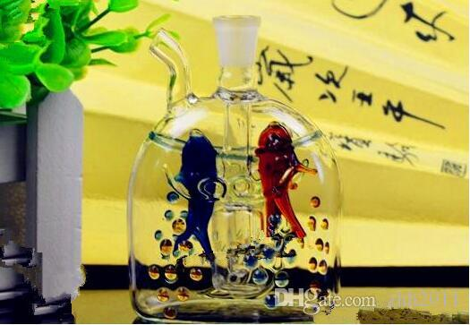 Wechselpunkt Fische Shisha Großhandelsglaswasserpfeife, Glas, Wasser, Rohrfittings, freies Verschiffen
