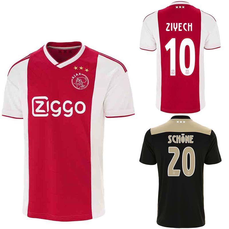 acheter 2019 ajax soccer maillot schone dolberg ziyech veltman nouri