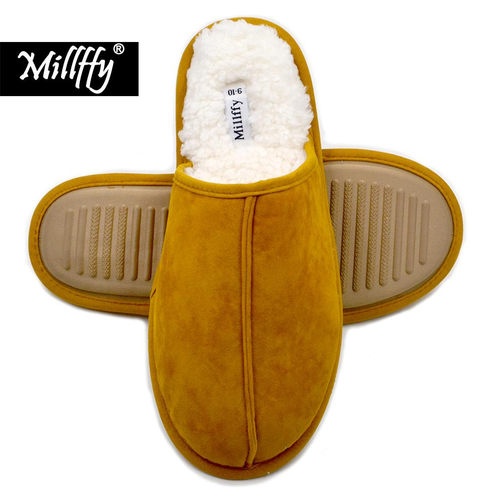 44d61c067ba Millffy Cashmere Cozy Slippers Women Men S Comfort Memory Foam Slippers  Fuzzy Plush Slip On House Shoes Scuff Fluff Mens Shoes Combat Boots From  Peggykiu