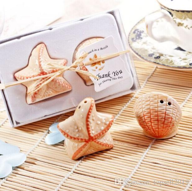 Wedding Favors Wholesale Beach Style Seashell And Starfish Salt And