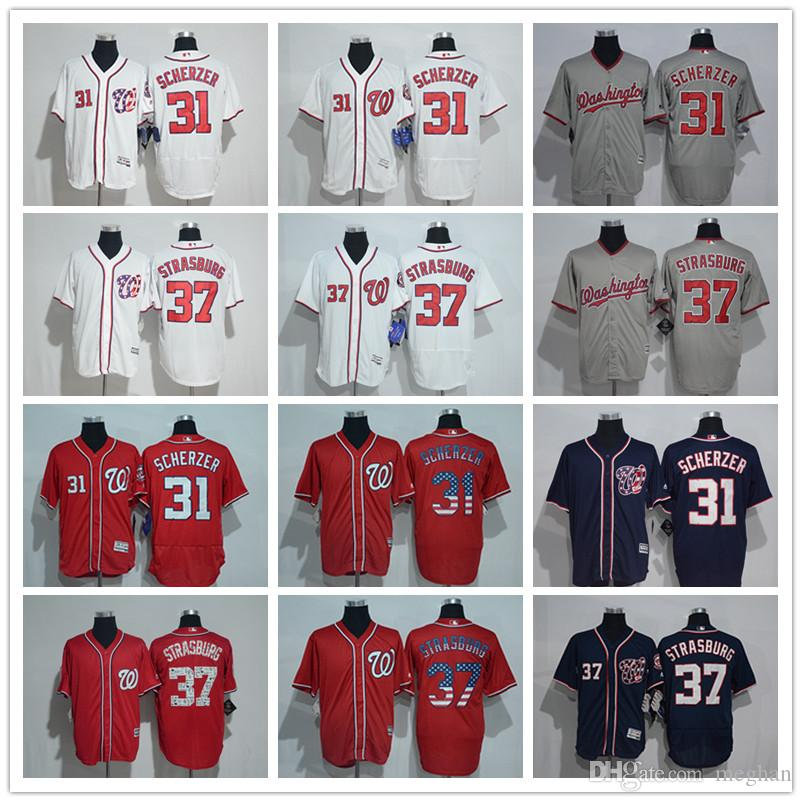 wholesale dealer 9c9a5 703ce Men Women Youth Nationals Baseball Jersey #31 Max Scherzer 37 Stephen  Strasburg Home Nary Blue Kids Baseball Jerseys
