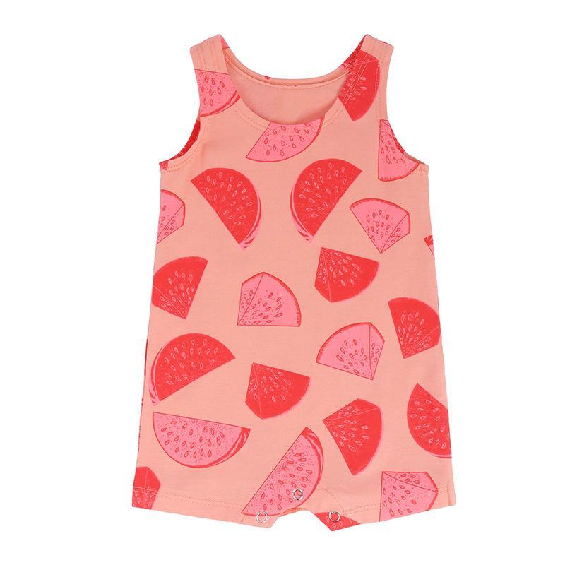 131f205369b Baby Romper Summer Infant Watermelon Print Jumpsuit for Girls ...