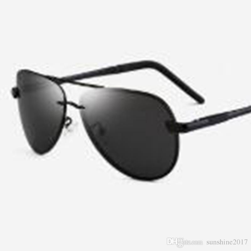 1771a5e270 Compre Gafas Polarizadas Gafas De Sol De La Aviación Sin Montura Lente  Espejo De La Marca De Diseñador De Doble Puente Gafas De Sol Polarizadas De  Lujo ...