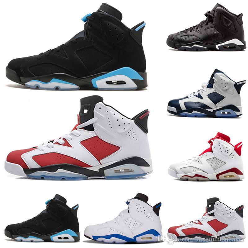 3159c546ce2 Designer Men 6 Basketball Shoes Tinker Sneaker UNC Blue Black Cat White  Infrared Red Mens Trainers Shoes Sneakers Size 41 47 Basketball Sneakers  Shoes ...
