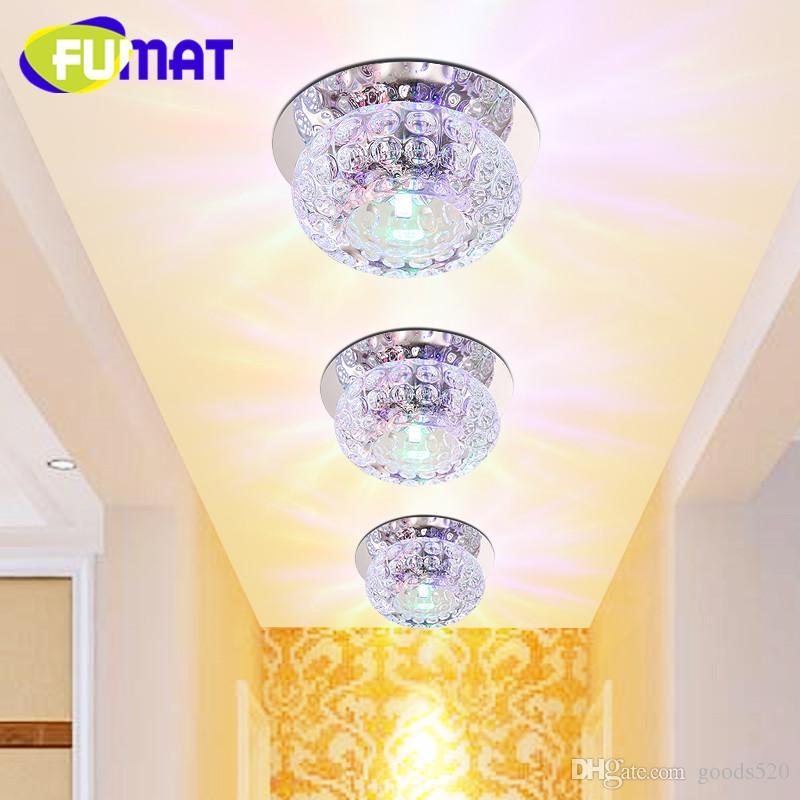 Corridor Mirror Ceiling Lamp Aisle Veranda Lighting Down Crystal Mordern Surface Mounted 5w LED Ceiling Lights For Living Room