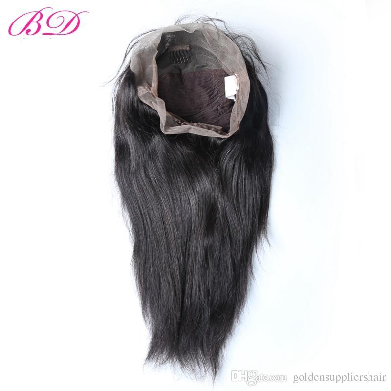 Parrucche diritte brasiliane 360 del pizzo del corpo di BD HAIR la parte libera del pizzo della testa piena di densità di 150% può essere capelli di Remy arricciati