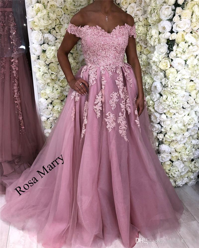 Sexy Pink Black Girls Cheap Prom Dresses 2018 A Line Off Shoulder ...