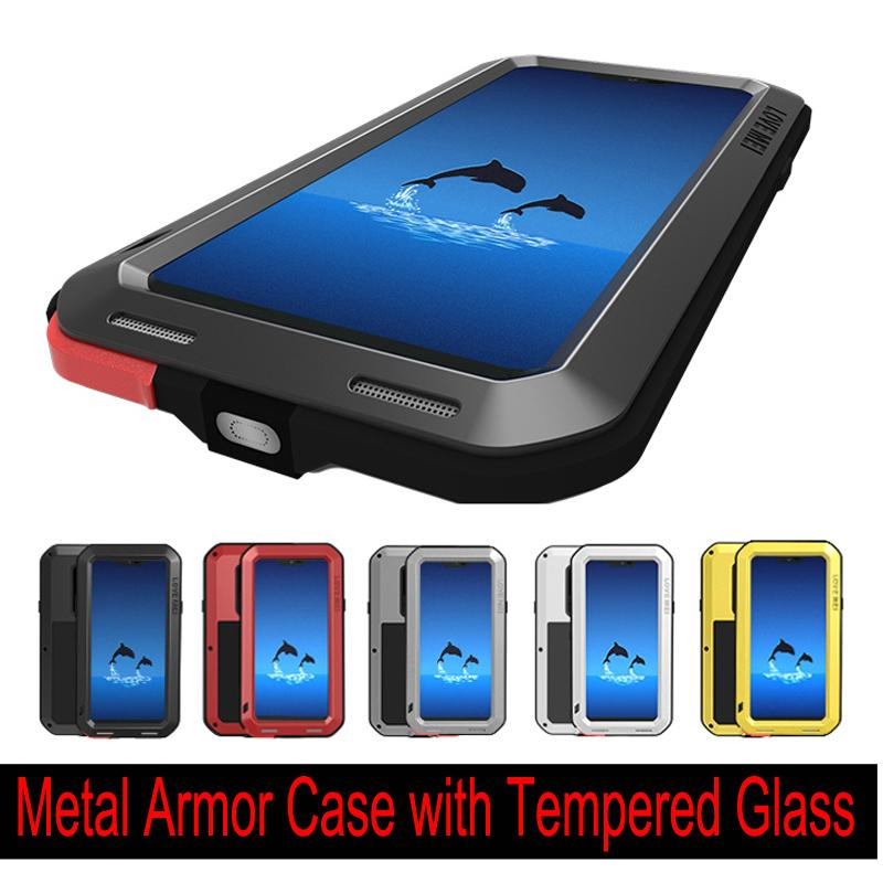 huge discount 0d6de 05532 LOVE MEI Powerful Metal Armor Case for LG G7 ThinQ LG G6 G5 Metal Aluminum  Shockproof, Life-waterproof Defender Cover with Tempered Glass