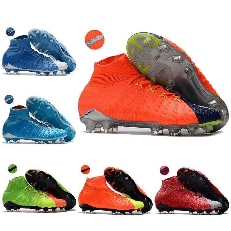 35a81238b392 Kids High Ankle Football Boots Youth Boys Hypervenom Phantom III FG ...