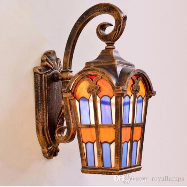 Acheter Svitz Moderne Mediterranee Boheme Lampe Vitrail Lampe Murale