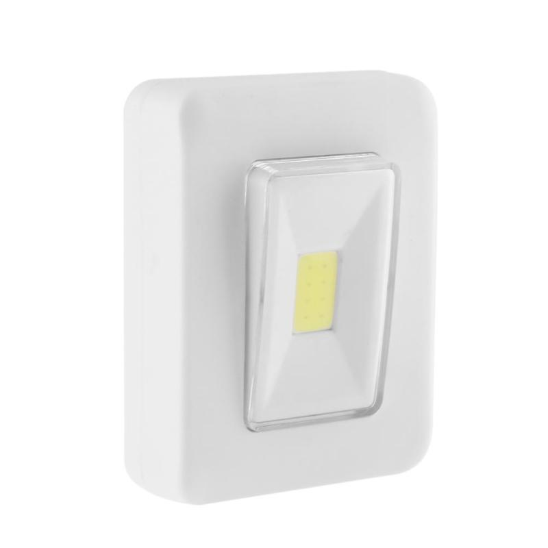 2019 Switch Shape Cob Led Night Light 2 X Aaa Battery Powered
