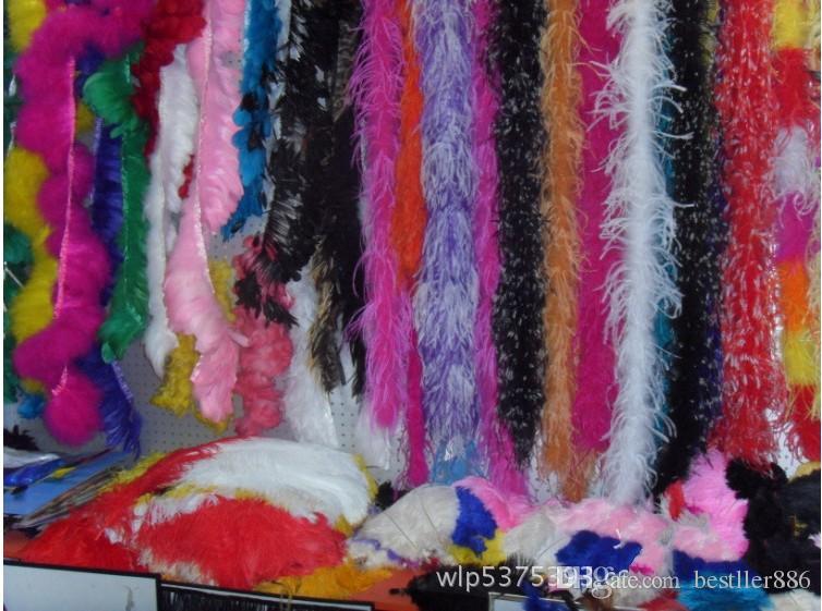 무료 배송 10 개 붉은 색 타조 깃털 보아 1 결혼 축하 행사 장식 바느질