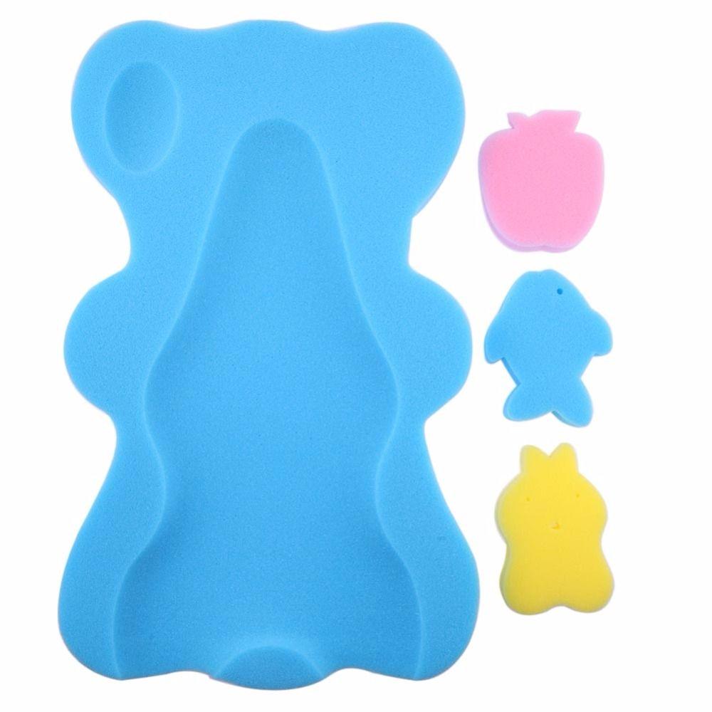 15eb31c4547e Compre Suporte Do Banho Do Bebê Não Slip Cama Infantil Chuveiro Esponja  Almofada Dos Desenhos Animados Tapete De Banho Do Bebê Recém Nascido Do  Bebê Redes ...