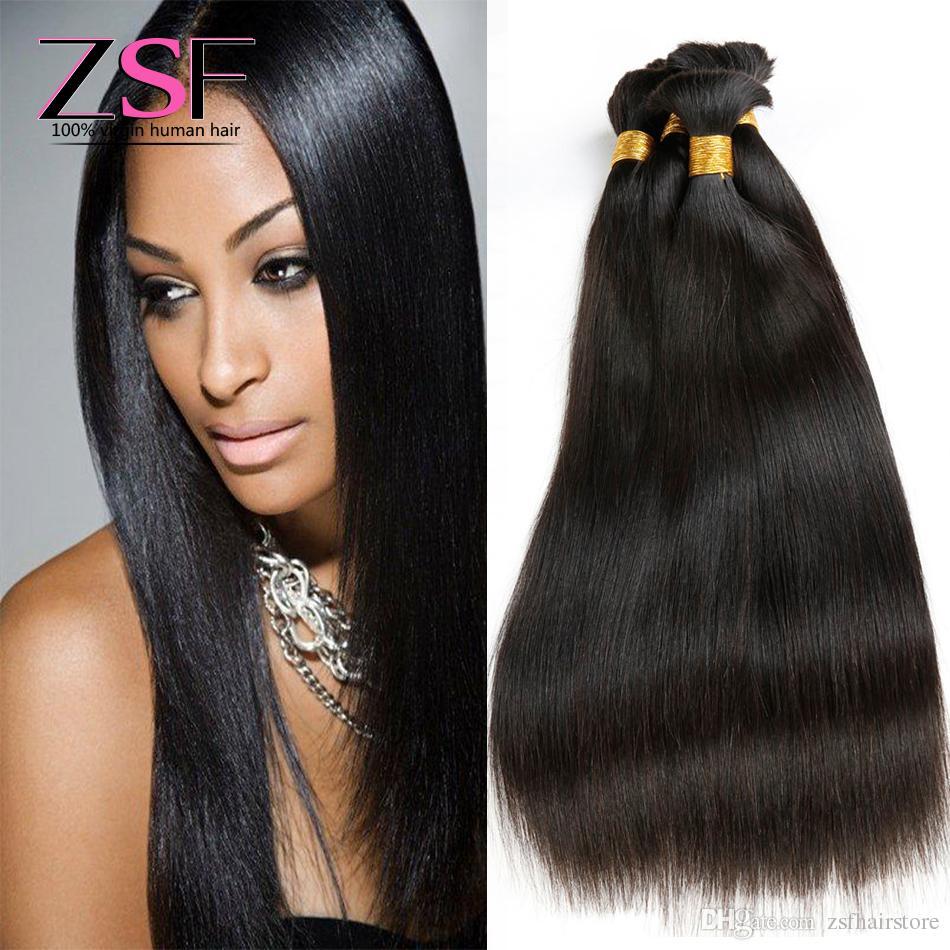 4 Bundles Human Braiding Hair Bulk Zsf 10a Grade Unprocessed Indian
