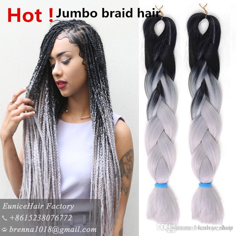 Synthetic Jumbo Braids Hair 100g/Pack Kanekalon Blonde Crochet False ...