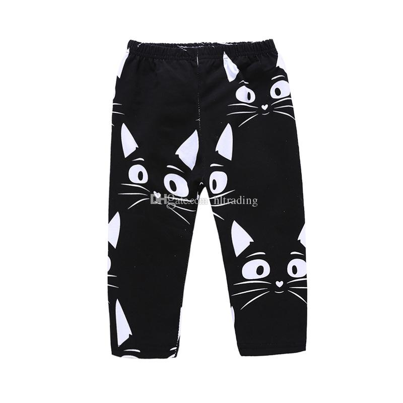 Baby boys Letter print outfits INS children top+Kitty face pants 2018 Summer Cats suits kids Clothing Sets C4031