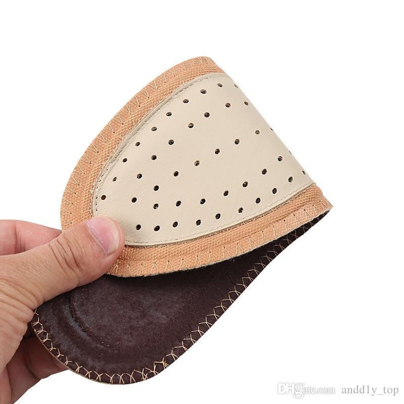 Palmilha de couro de carvão de bambu respirável das Mulheres dos homens completa mat não-slip de couro desodorante suor-absorvente bezerro sapato pad