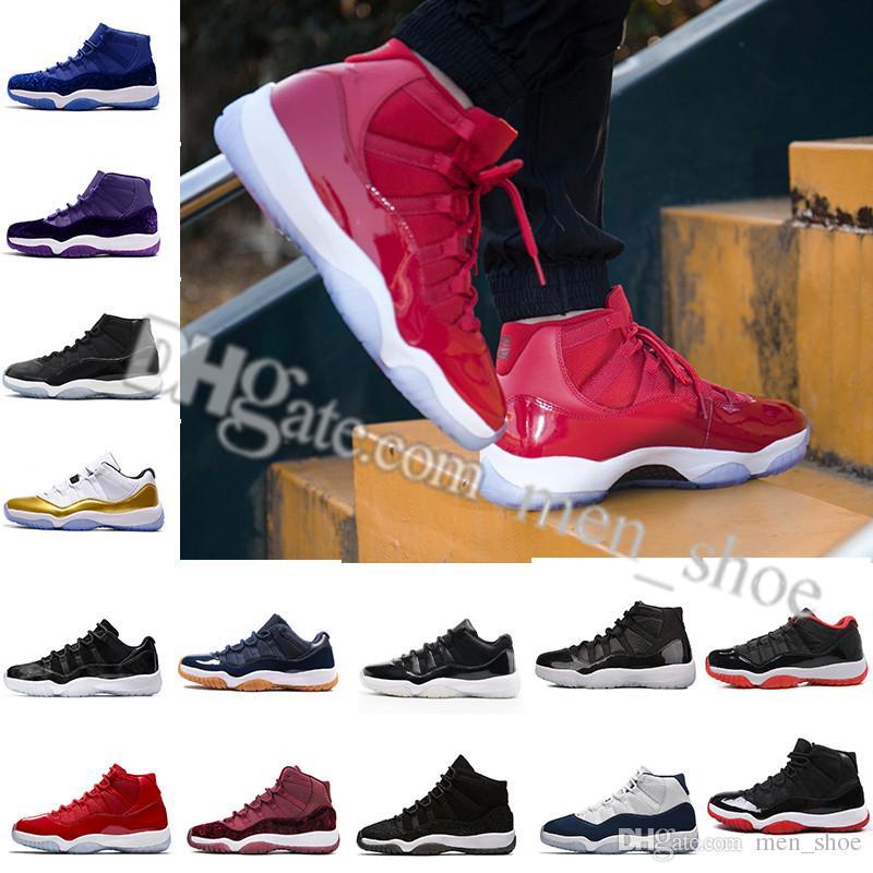 f9db3aca9beb79 2018 High Cheap NEW 11 Space Jam Bred Gamma Blue Basketball Shoes ...