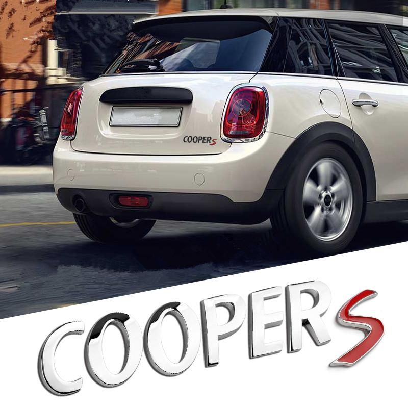 Universal For Bmw Mini Cooper Chrome Emblem Cooper S Matte Alloy Car