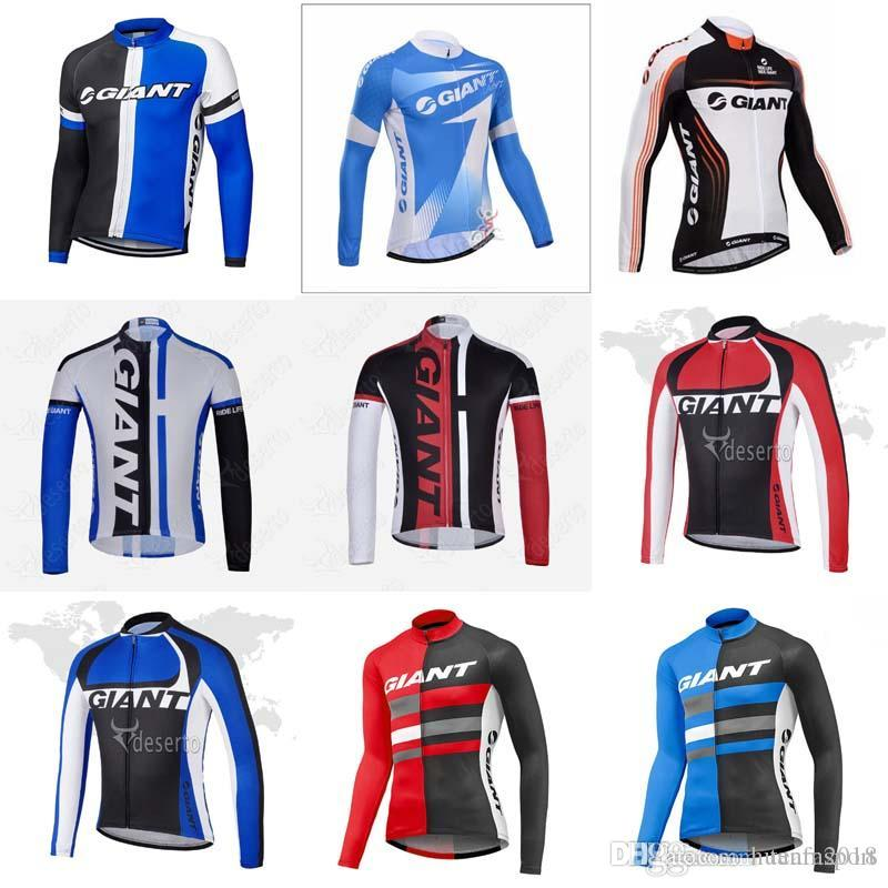 GIANT Team Cycling Long Sleeves Jersey New Arrivals Bike Clothes Multiple  Choices Simple Men Long Sleeve Top Quality Cycling Clothing 840718 GIANT  Cycling ... 5eec39197