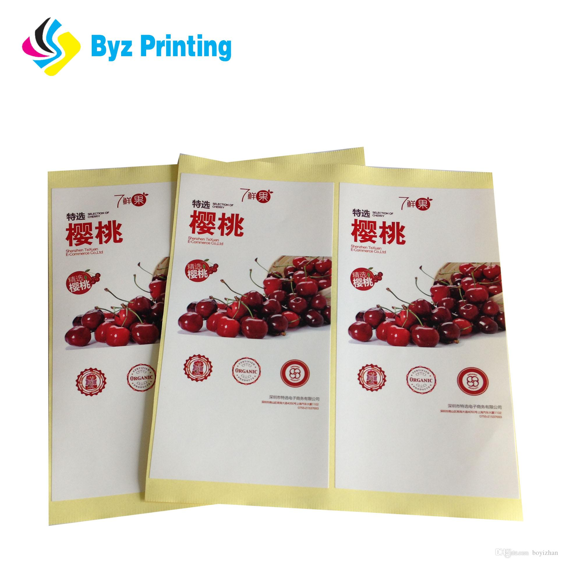 Custom self adhesive label sticker printingfood bottle packaging sticker labelroll product private logo stickers