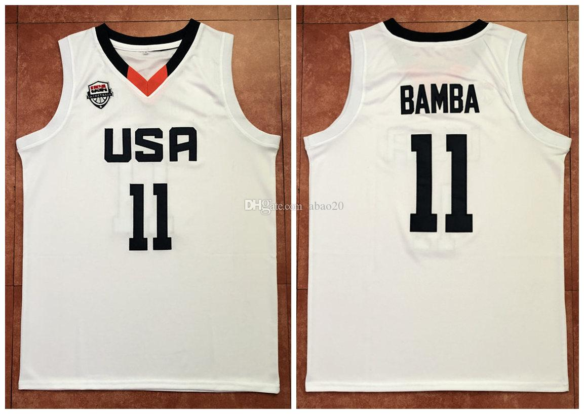 on sale 81edf 1cede #4 Mohamed Mo Bamba Team USA White Retro Classic Basketball Jersey Mens  Stitched Custom any Number and name Jerseys