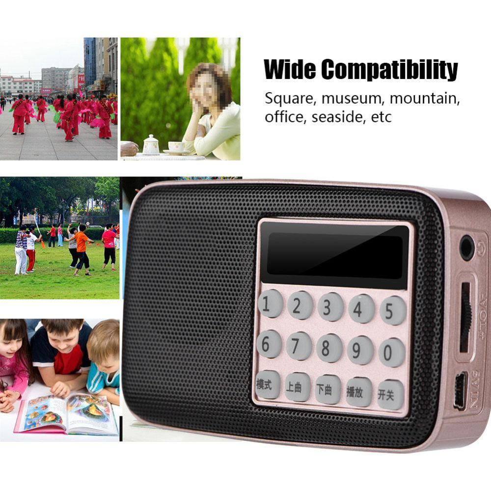 Unterhaltungselektronik Digital Fm Radio Empfänger Bluetooth Lautsprecher Mp3 Musik Player Tragbares Audio & Video Nett Usb Multi-funktion Tragbare Dab